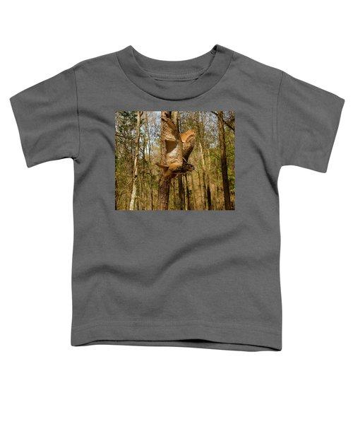 Eurasian Eagle Owl In Flight Toddler T-Shirt