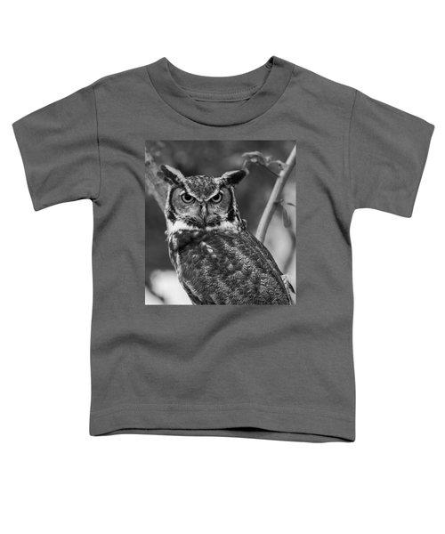 Eurasian Eagle Owl Monochrome Toddler T-Shirt
