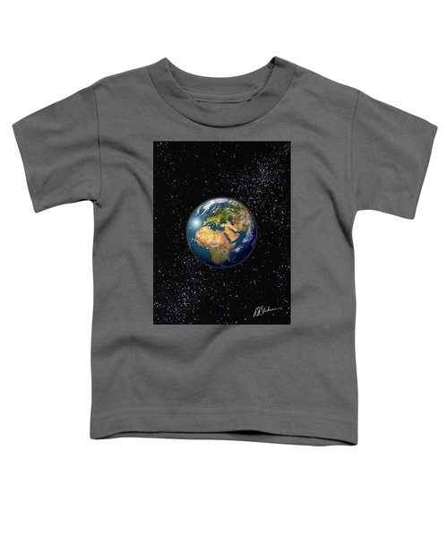 Europe, England, Middle East, North Africa As Seen From Space  Toddler T-Shirt