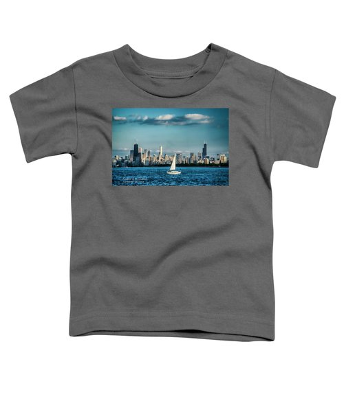 Evan's Chicago Skyline  Toddler T-Shirt