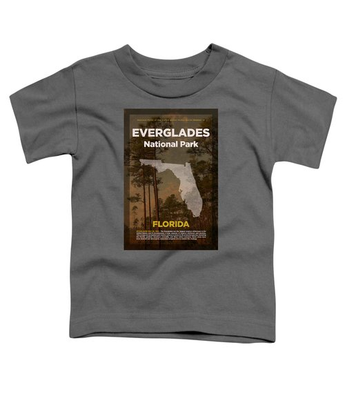 Everglades National Park In Florida Travel Poster Series Of National Parks Number 15 Toddler T-Shirt