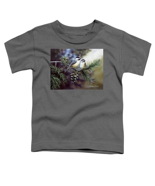 Evergreen Chickadees Toddler T-Shirt