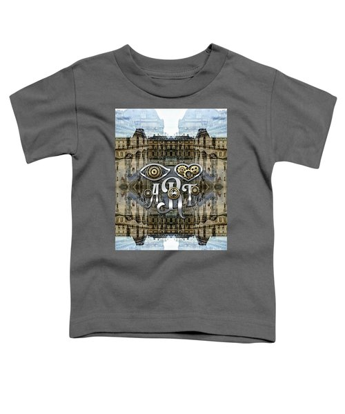 Eye Heart Art Louvre Silver Paris Da Vinci Gears Toddler T-Shirt