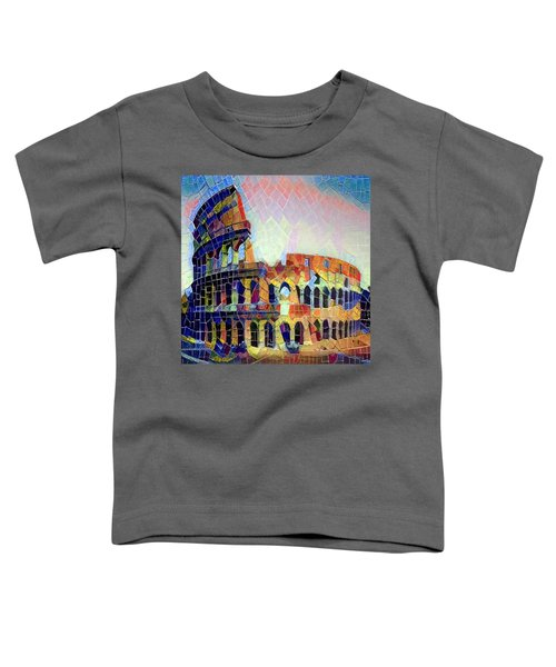 Toddler T-Shirt featuring the digital art Fabio's Coliseum by Gerry Morgan