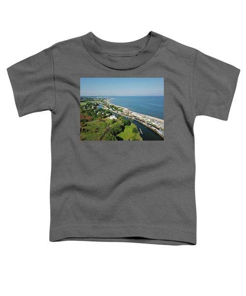 Fairfield Beach Road Aerial Toddler T-Shirt