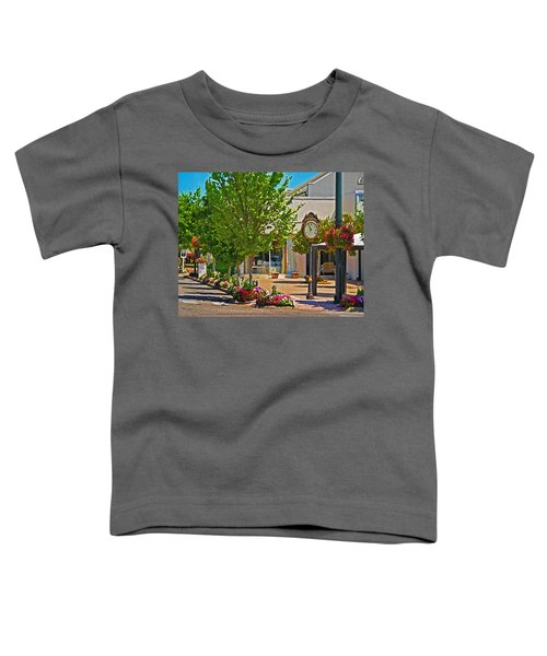 Fairhope Ave With Clock Looking North Up Section Street Toddler T-Shirt
