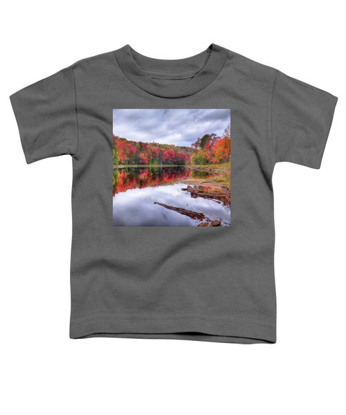 Toddler T-Shirt featuring the photograph Fall Color At The Pond by David Patterson