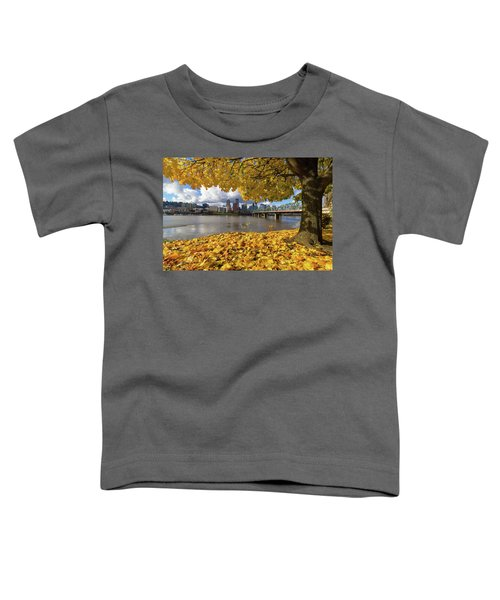 Fall Foliage With Portland Oregon City Toddler T-Shirt