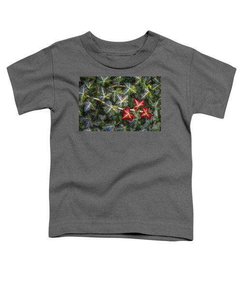 Toddler T-Shirt featuring the photograph Fall Ivy Leaves by Adam Romanowicz