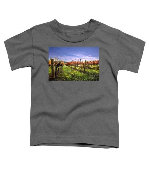 Fall Leaves At The Vineyard Toddler T-Shirt
