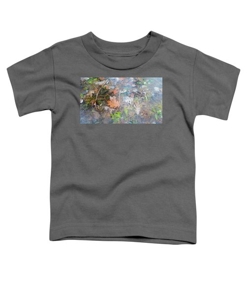 Fall Leaves In A Frozen Puddle Toddler T-Shirt