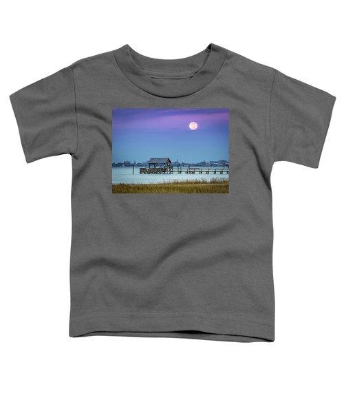 Fall Moon And King Tide - Charleston Sc Toddler T-Shirt