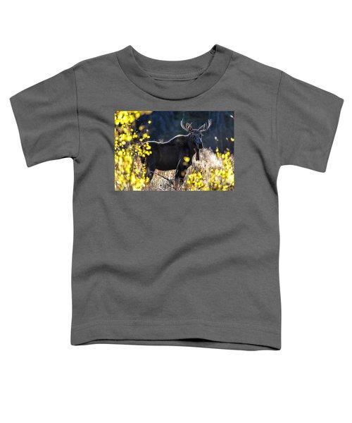 Fall Moose Toddler T-Shirt
