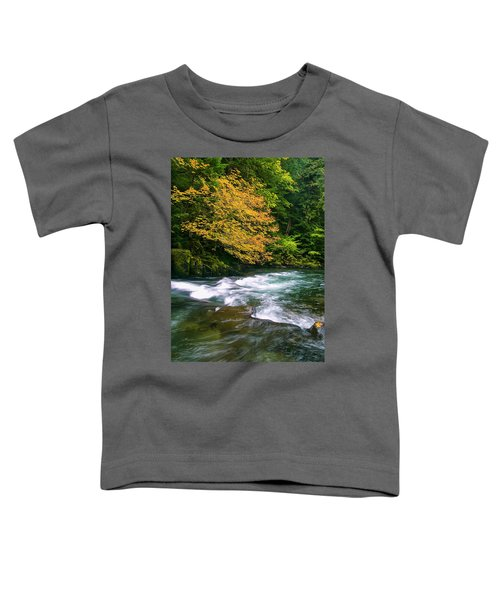 Fall On The Clackamas River, Or Toddler T-Shirt