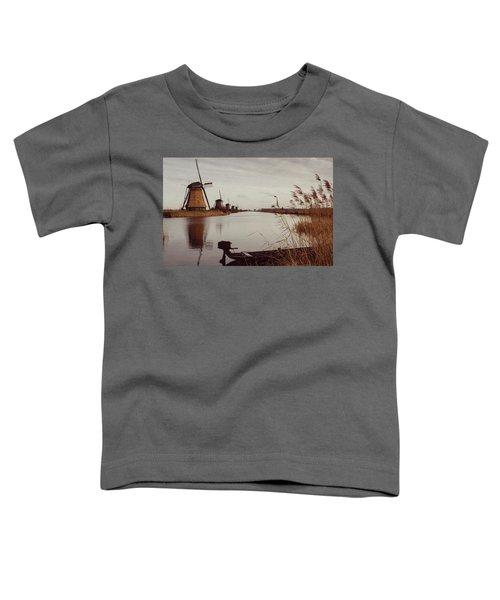 Famous Windmills At Kinderdijk, Netherlands Toddler T-Shirt