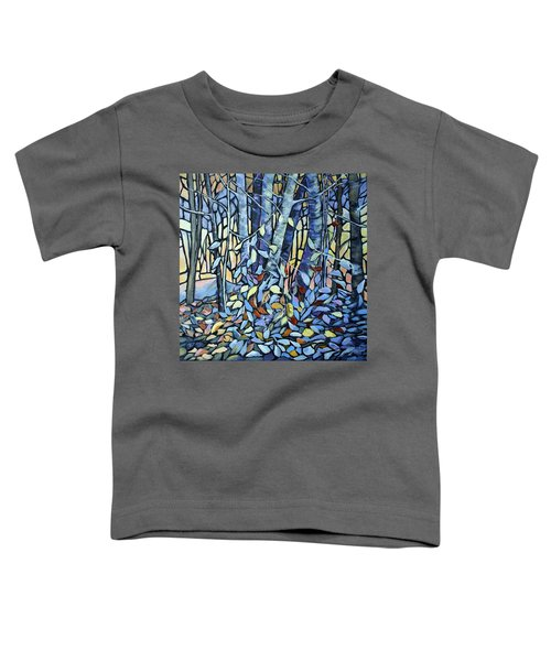 Toddler T-Shirt featuring the painting Fantasy In The Forest by Joanne Smoley