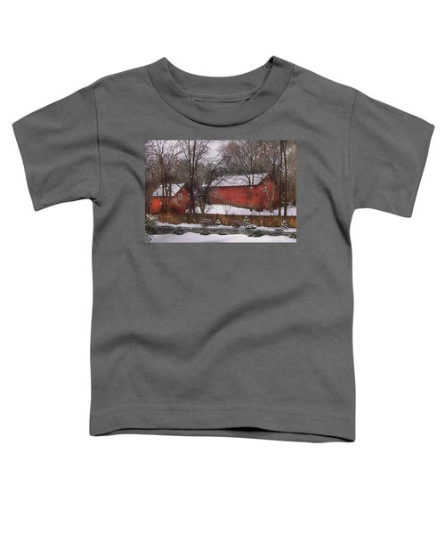 Farm - Barn - Winter In The Country  Toddler T-Shirt