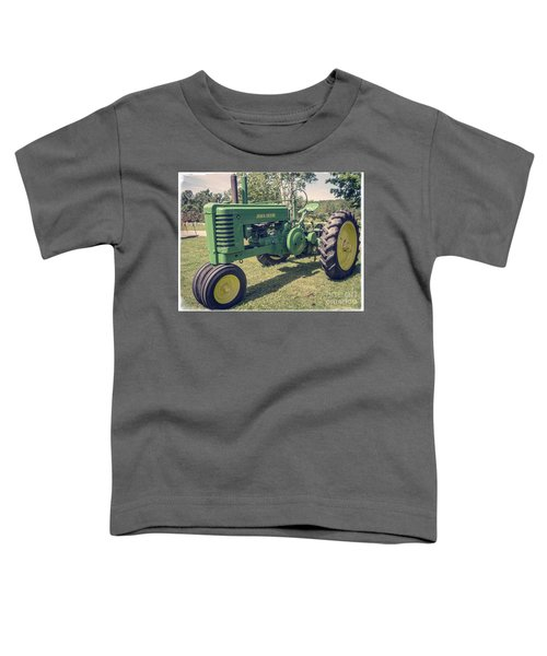Farm Green Tractor Vintage Style Toddler T-Shirt