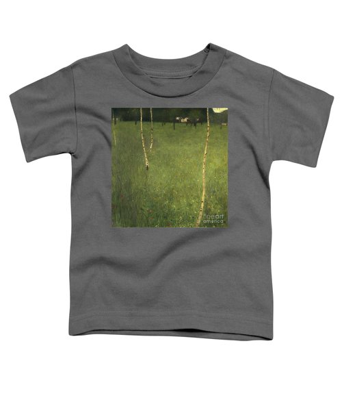 Farmhouse With Birch Trees Toddler T-Shirt