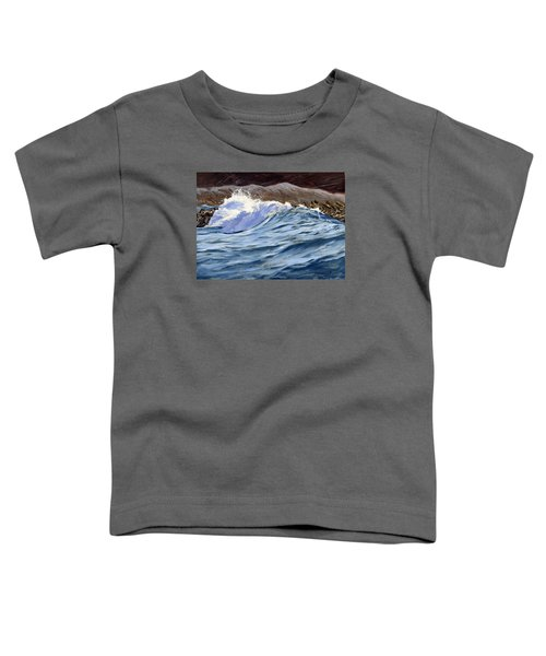 Toddler T-Shirt featuring the painting Fat Wave by Lawrence Dyer