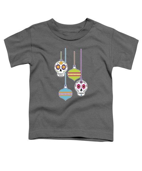 Feliz Navidad Holiday Sugar Skulls Toddler T-Shirt