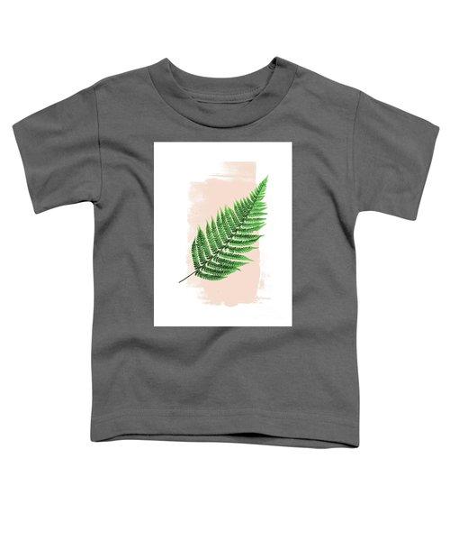 Fern Leaf On Pink Toddler T-Shirt