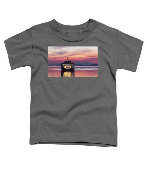 Ferry Issaquah Docking At Dawn Toddler T-Shirt