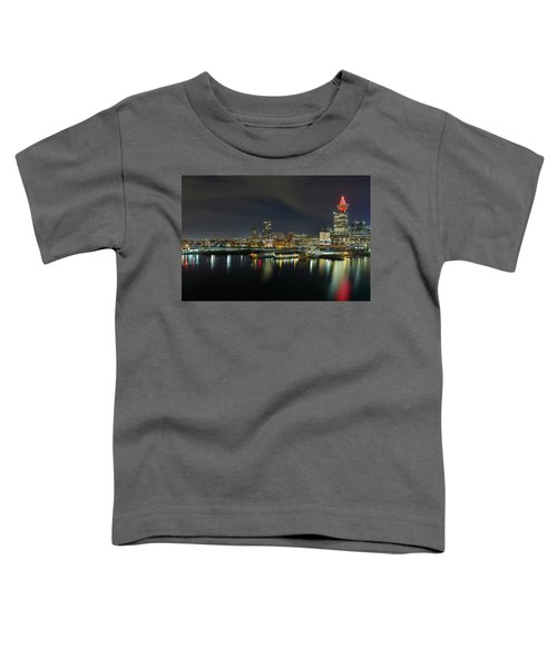 Ferry Terminal In Vancouver Bc At Night Toddler T-Shirt