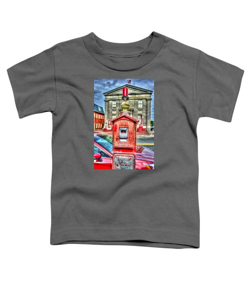 Fire Alarm Box 375 In Painterly Toddler T-Shirt