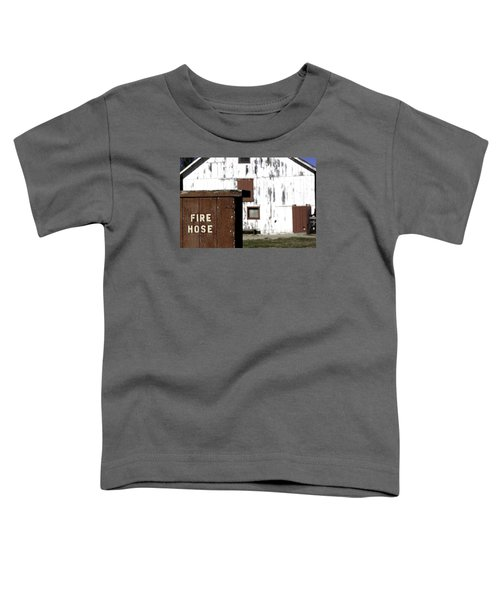 Toddler T-Shirt featuring the photograph Fire Hose by Lora Lee Chapman