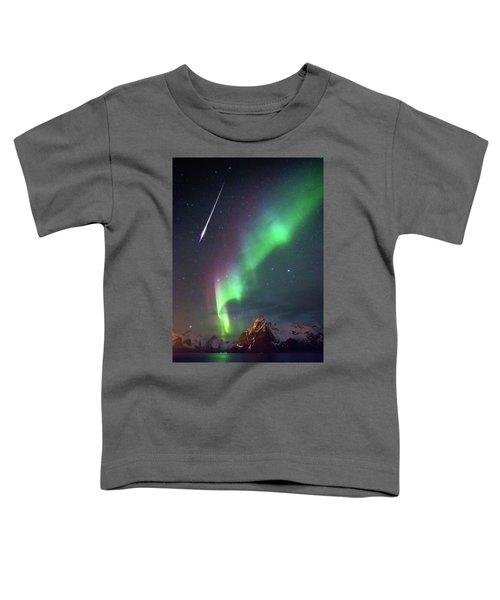 Fireball In The Aurora Toddler T-Shirt