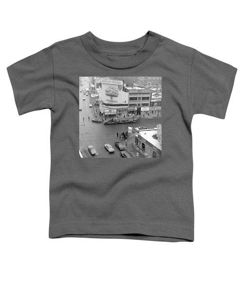 Firetruck Heads Down Hennepin Toddler T-Shirt