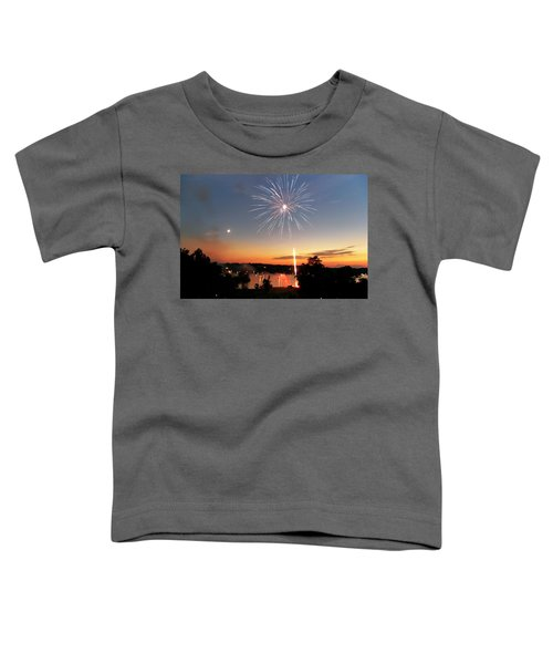 Fireworks And Sunset Toddler T-Shirt