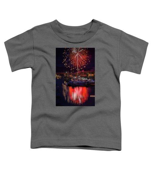 Fireworks At The Docks Toddler T-Shirt