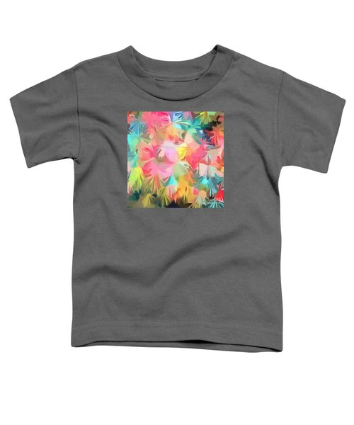 Fireworks Floral Abstract Square Toddler T-Shirt by Edward Fielding