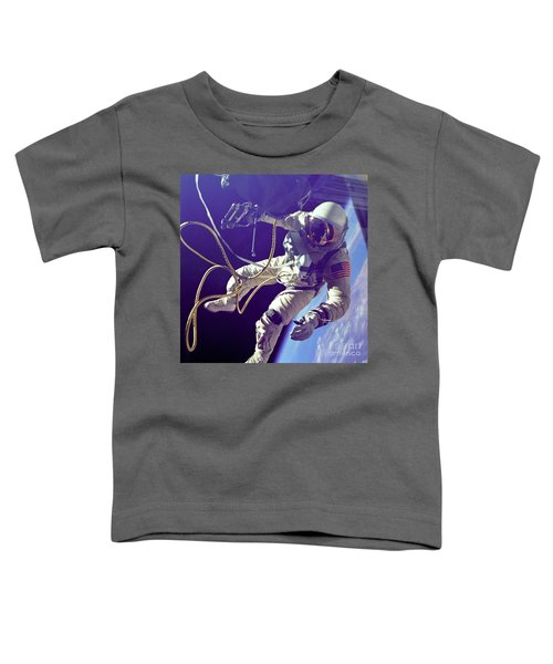First American Walking In Space, Edward Toddler T-Shirt