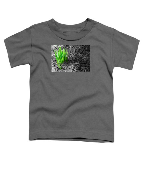 First Green Shoots Of Spring And Dirt Toddler T-Shirt