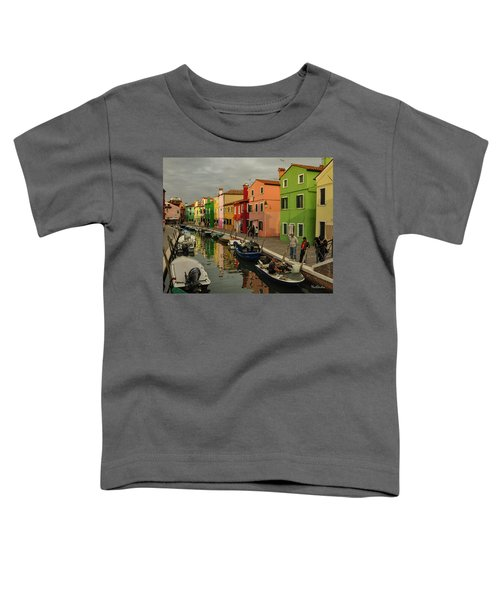Fisherman At Work In Colorful Burano Toddler T-Shirt