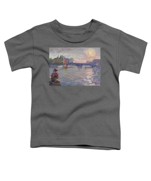 Fishing At Sunset  Toddler T-Shirt