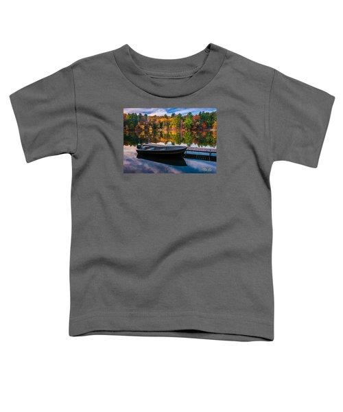 Fishing Boat On Mirror Lake Toddler T-Shirt