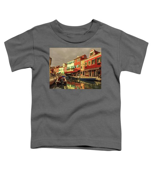 Fishing Boats In Colorful Burano Toddler T-Shirt