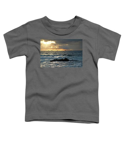 Fishing Boats Off Point Lobos Toddler T-Shirt