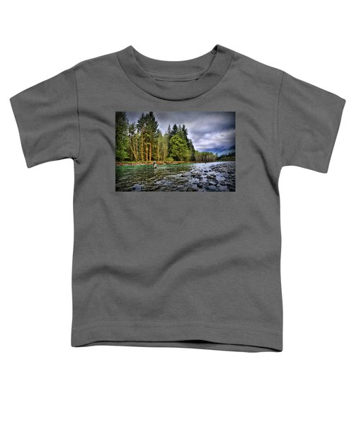 Fishing The Run Toddler T-Shirt
