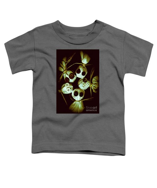 Five Halloween Dolls With Button Eyes Toddler T-Shirt