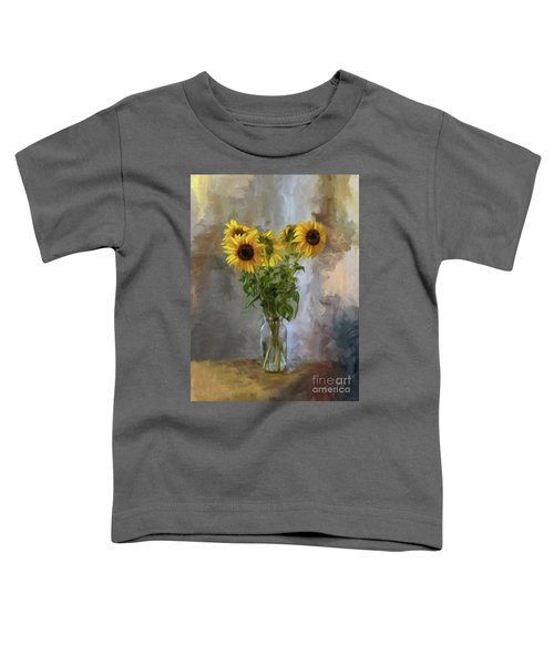 Five Sunflowers Centered Toddler T-Shirt