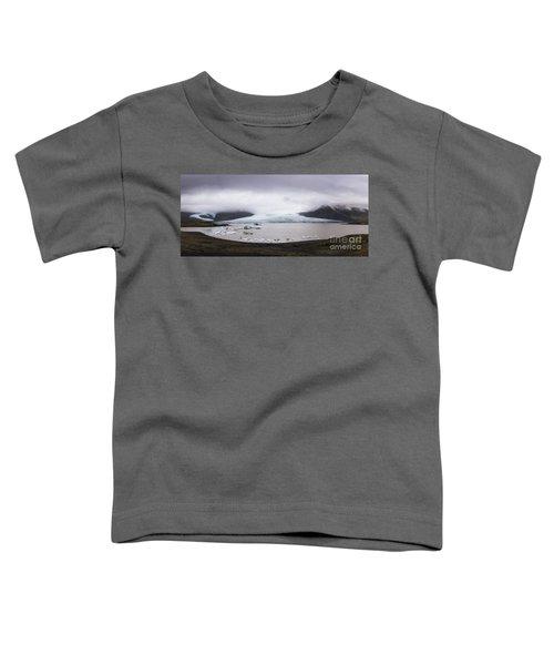 Fjallsarlon Lagoon Panorama  Toddler T-Shirt