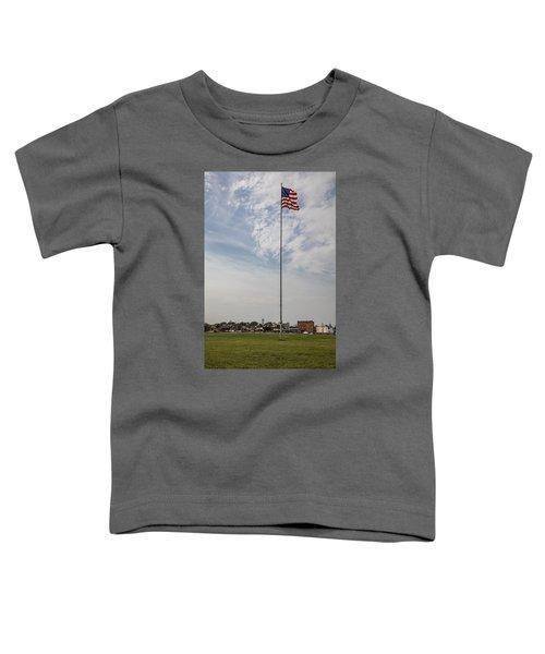 Flag Poll At Detroit Tiger Stadium  Toddler T-Shirt