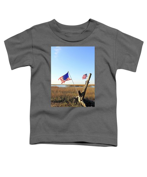 Flags Near Tybee Toddler T-Shirt