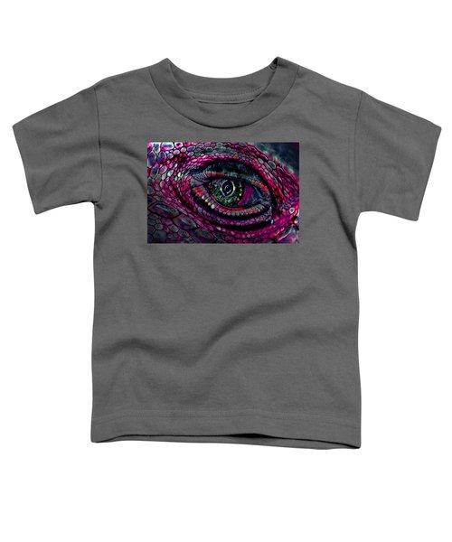 Flaming Dragons Eye Toddler T-Shirt