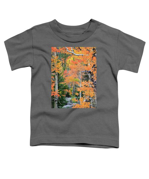 Flaming Forest Toddler T-Shirt by David Chandler